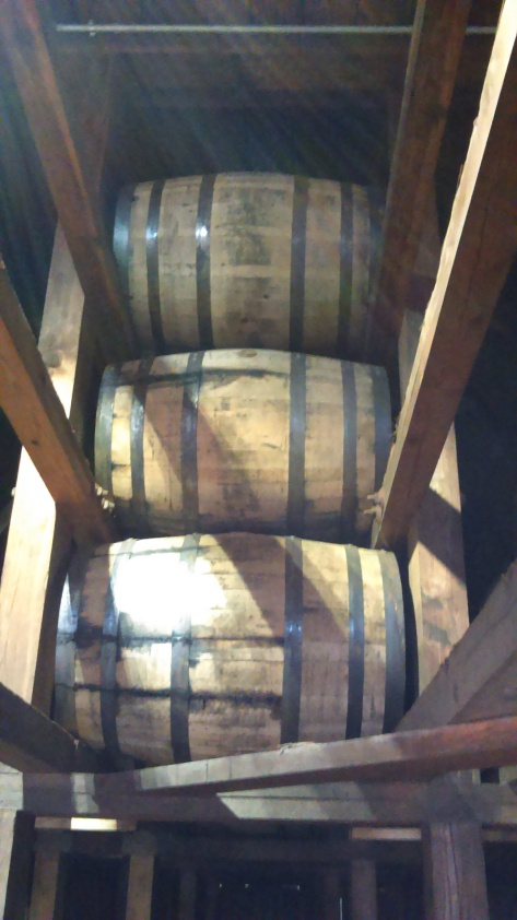 A look up into the rick house (Stitzel-Weller distillery)
