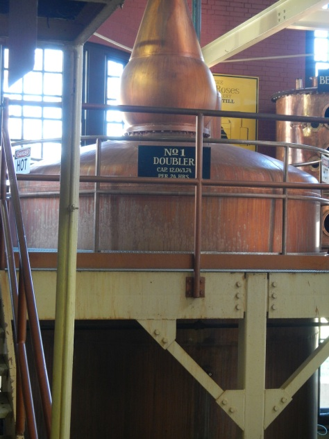Doubler is where the proof is raised once more before being put in the barrels.