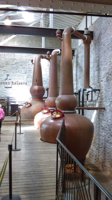 "No huge distilling towers here, only the ""pot stills"" fro the small batch production."