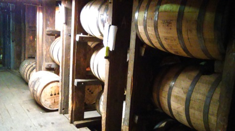 It's pretty amazing to think that these barrels are going to remain here to mature for years.