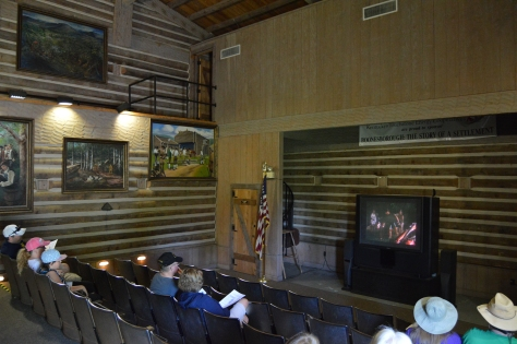 The self guided fort tour begins with a video presentation describing the events in history that took place in the fort and surrounding areas.