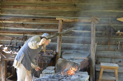 The next stop is one of my favorites...  the blacksmith.