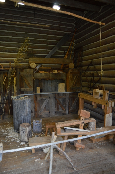 Notice the spring pole lathe.