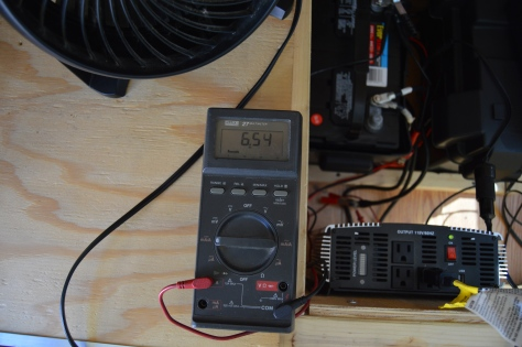 Running the little fan at high speed took 6 amps