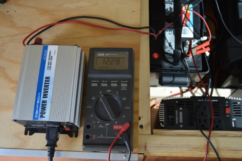 The buss voltage dropped to 12.2 when the compressor was running but returned to 12.5 when it stopped.
