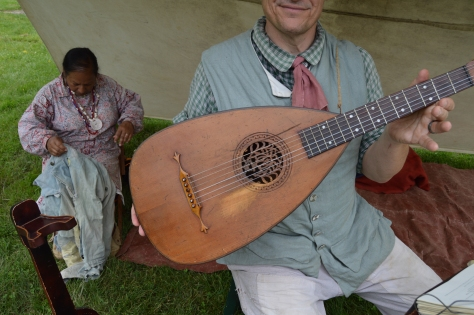 Jonathan shows us his two hundred year old lute.