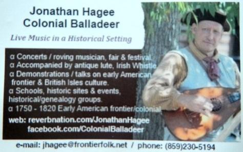 Jonathan Hagee bus card