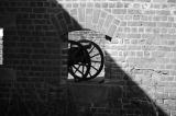 The cannons stood quiet during the surrender.