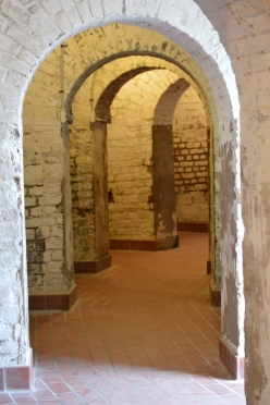 A hall between chambers.